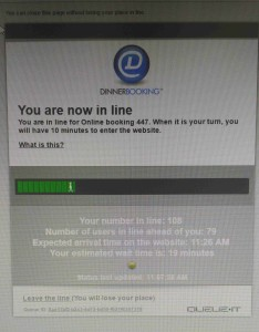The queueing page. It's quite a good system when it actually works