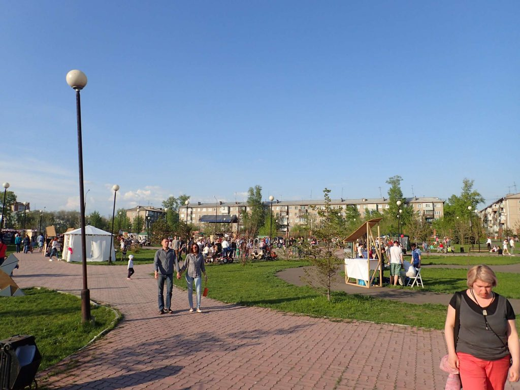 The 'hipster food market'. I've just realised this picture makes it look quite empty, but it was more that it was a big park – most sections were clogged with people