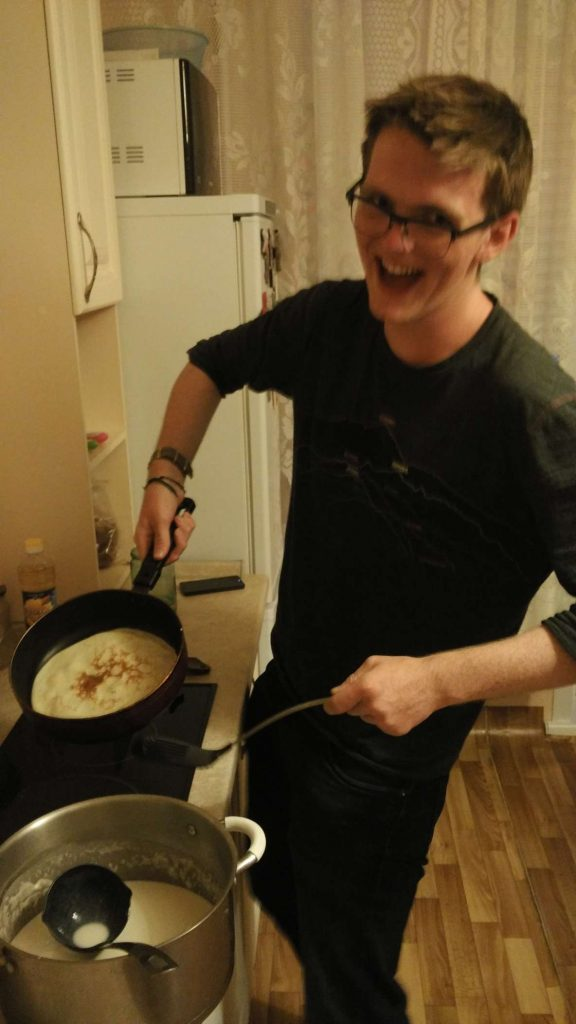 Overly excited to have cooked my first blini …and it's technically identical to cooking a regular pancake…