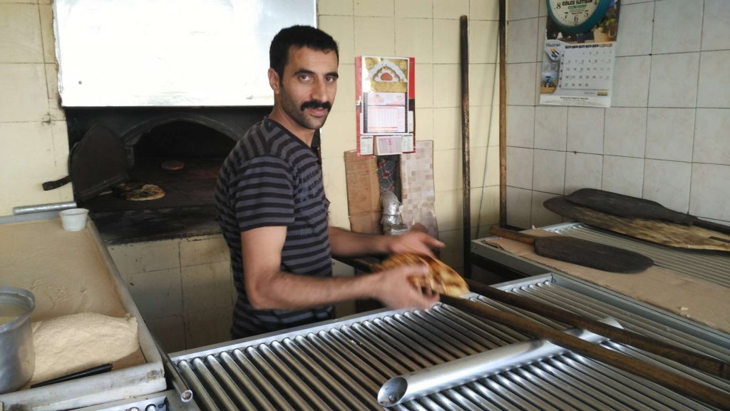 I was beckoned into a bakery by an enticing smell, where I found the pide man baking fresh bread
