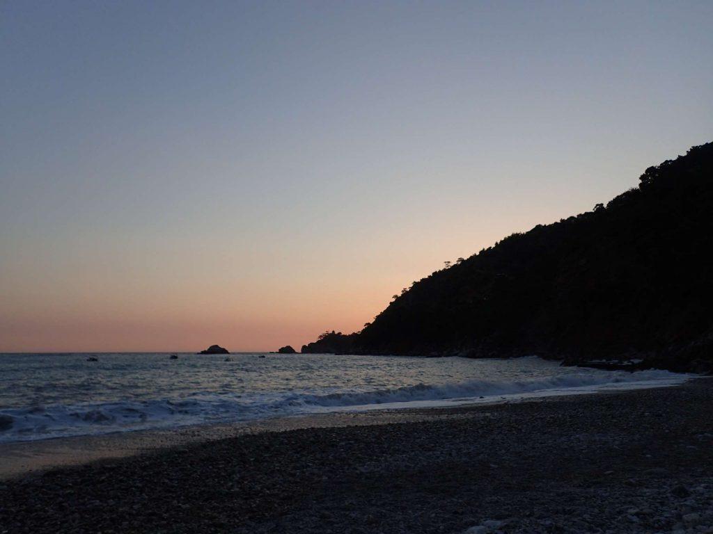 The sunset from Kabak beach
