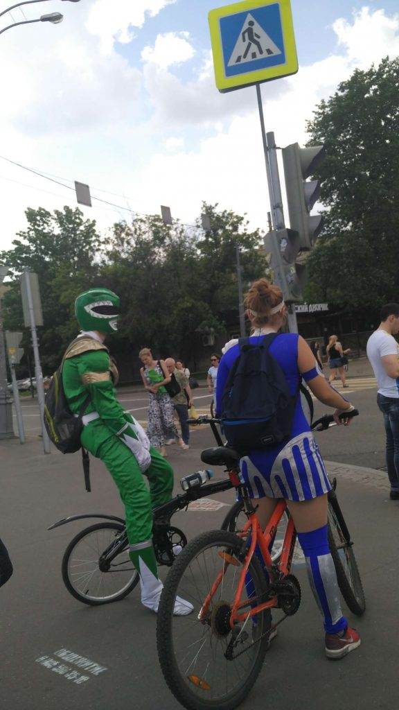 Some Muscovites I spotted on the way in