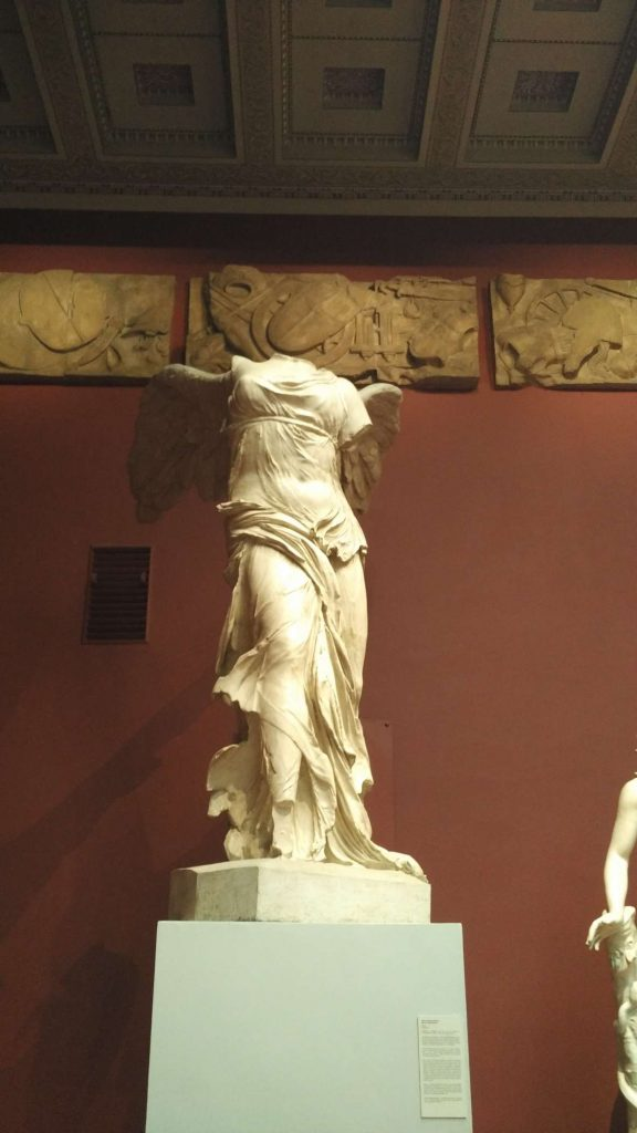 Nike of Samothrace, one of the best depictions in existence of wet cloth in marble