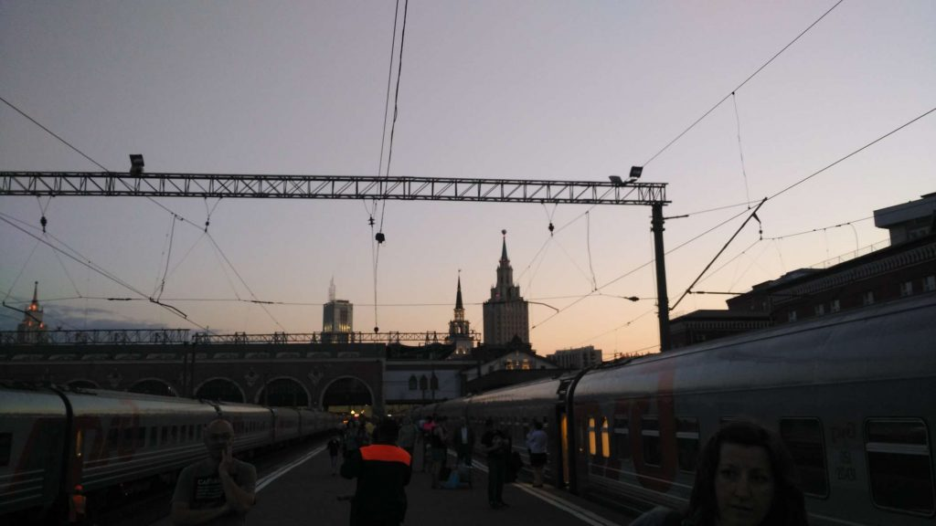 At the station. Goodbye, Moscow!