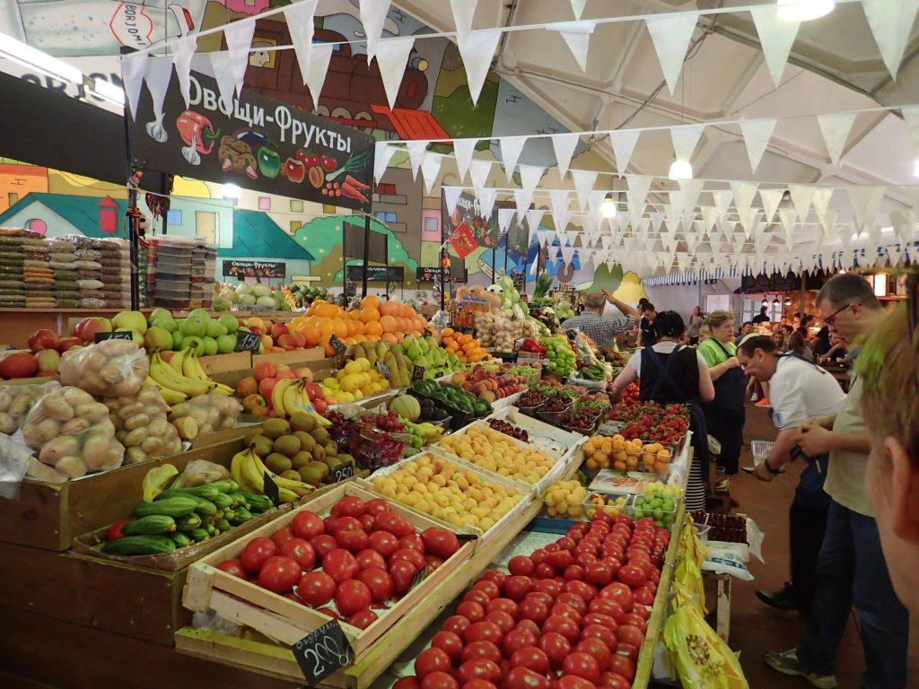 …fresh fruit, veggies…