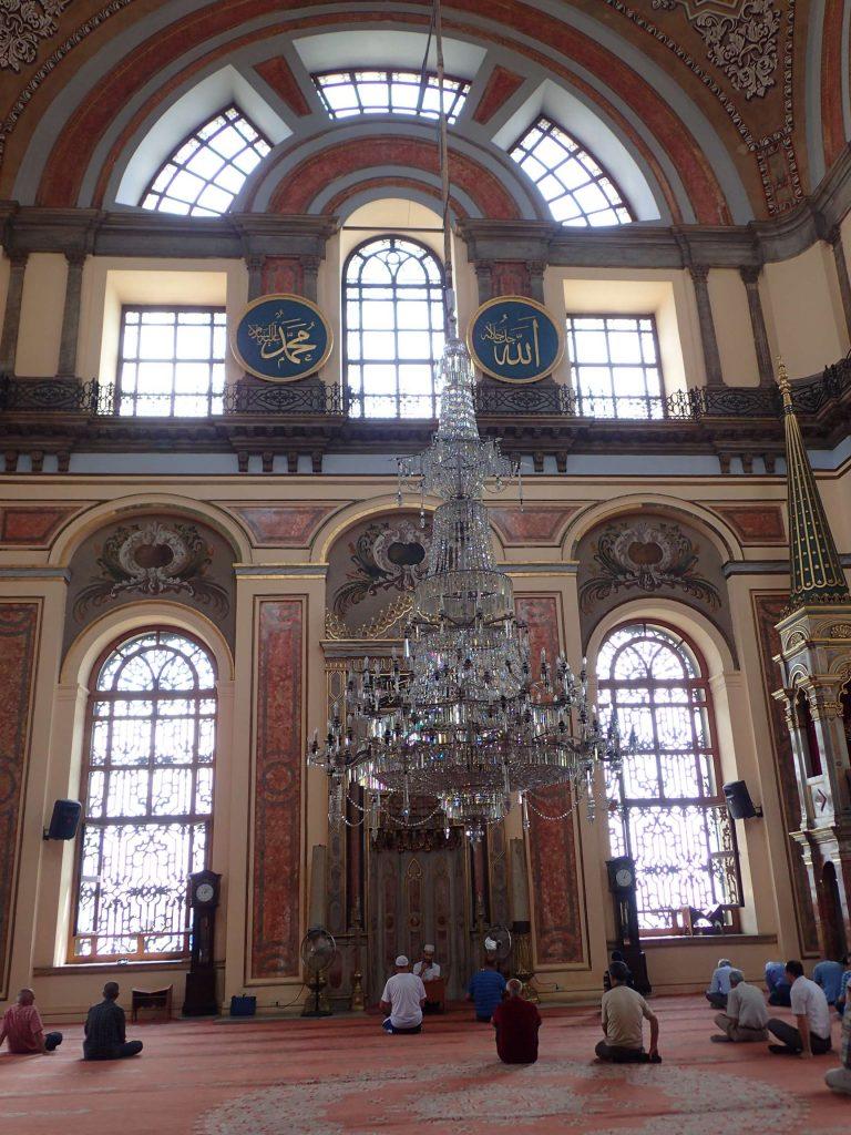 Sightseeing. Mosque interior.