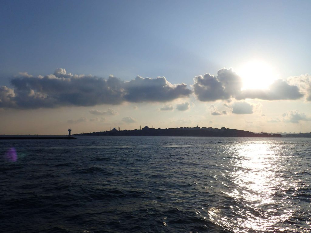 The evening view from a ferry. A wonderful way to pass a half-hour