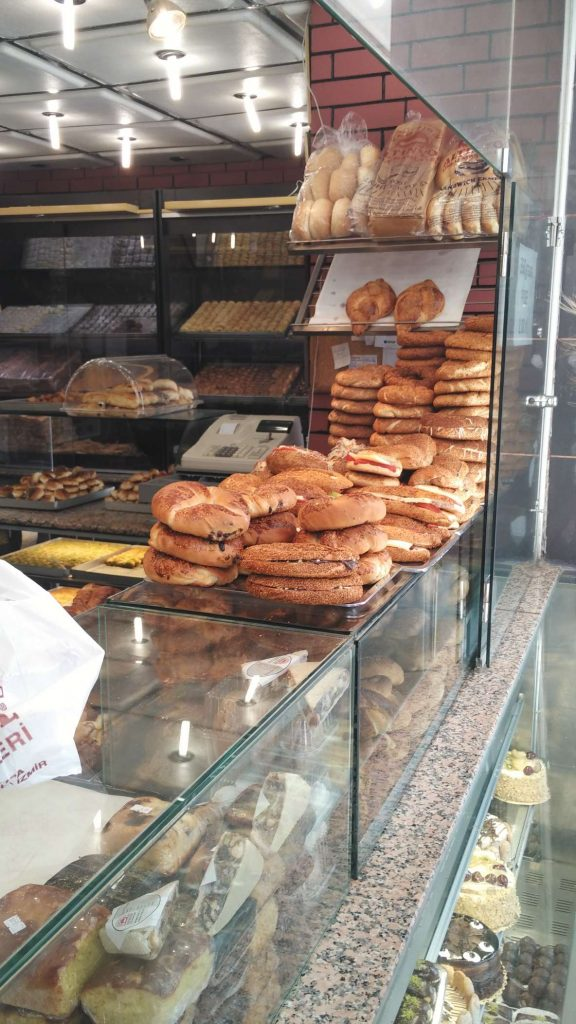 Among other things, this place sold Izmir specialities of boyoz (buttery, croissant-like) and kumru (sesame-seeded bread stuffed with tomatoes, salami, cheese)