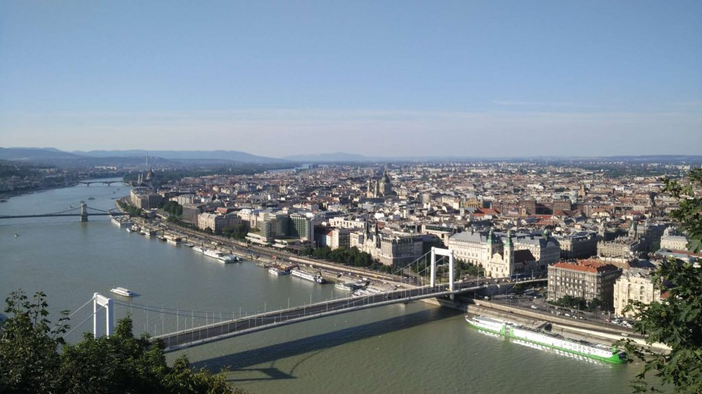 Another angle of the same side of Budapest