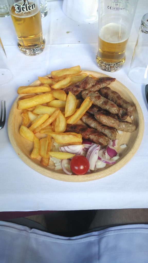 Cevapcicis - skinless sausages, similar to Turkish kofte, originate from Serbia