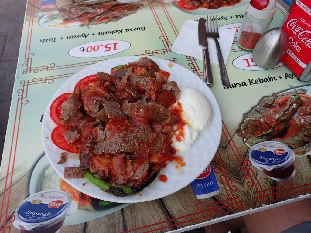 Iskender kebab in all its messy glory