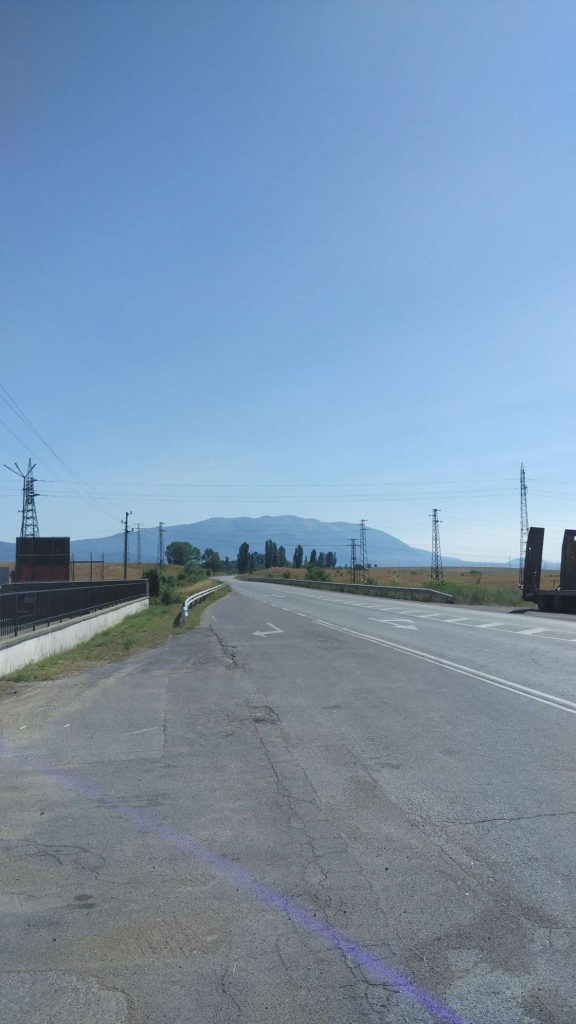 The road through Kyustendil which I became very well acquainted with.