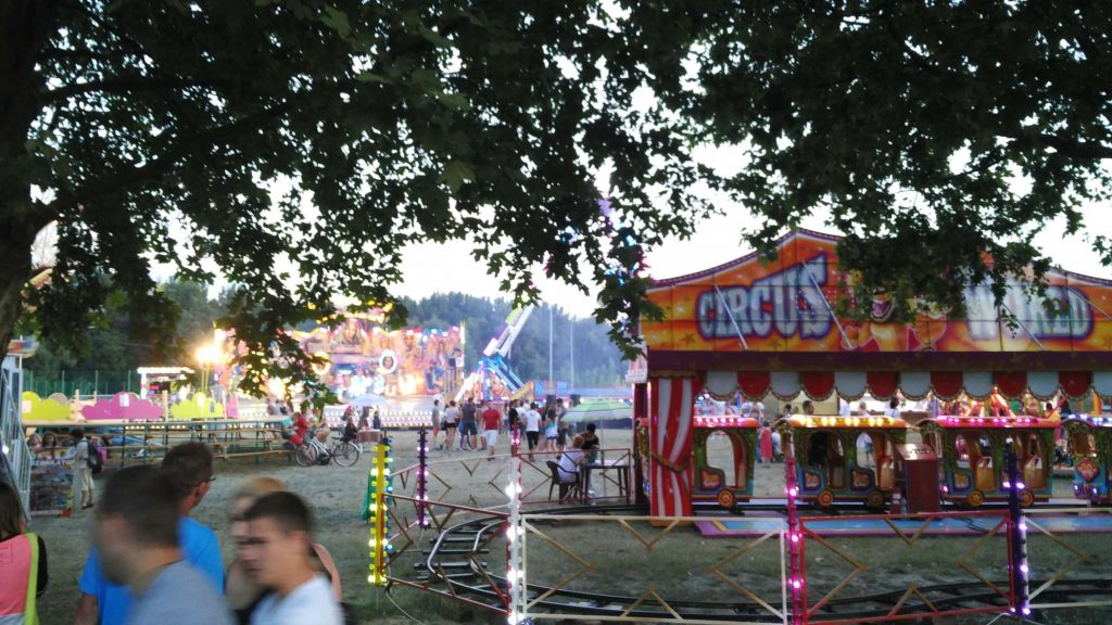 Some of the rides at the fairground