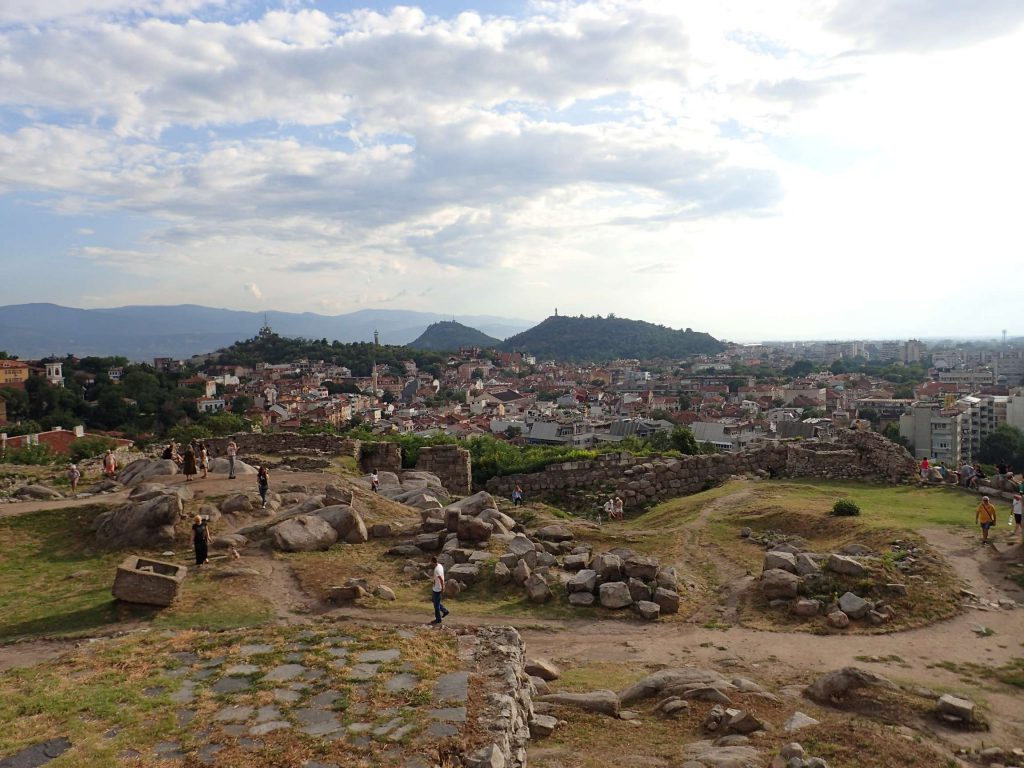 The Roman ruins and Plovdiv old town