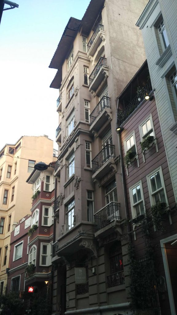 The average street in Cihangir, the neighbourhood where I spent most of my time