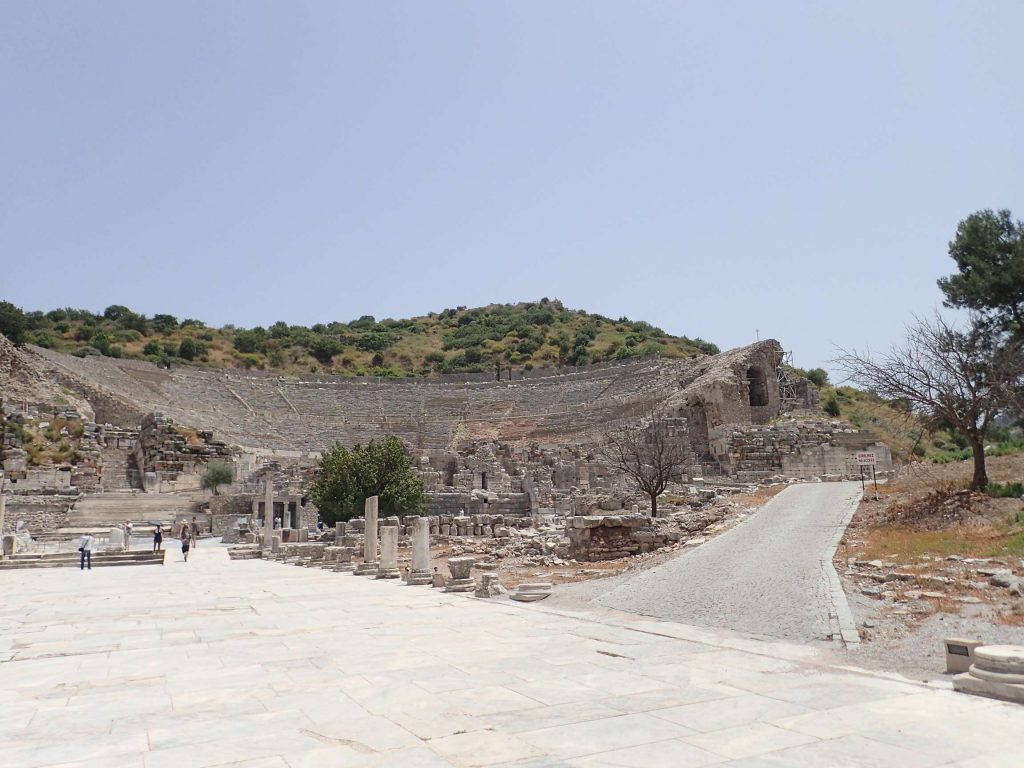 The marble road and amphitheatre. Elton John once performed a concert in this amphitheatre; it must have been mind-blowing