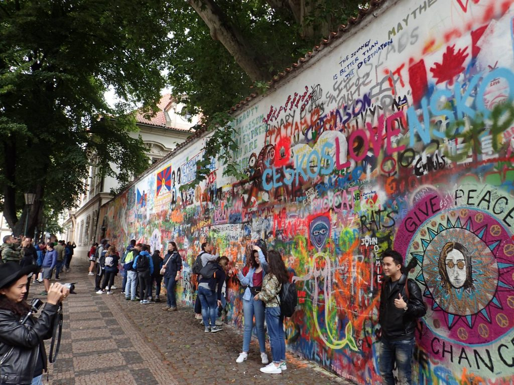 The (apparently famous) Lennon wall