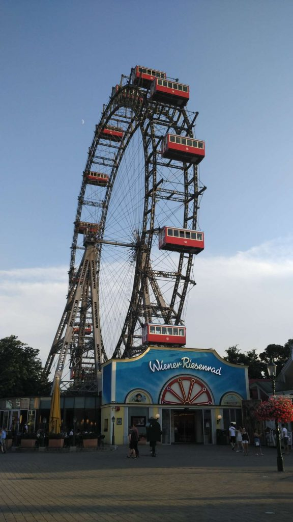 The famous 'Wiener Riesenrad' – 'Viennese giant wheel' – featured in Orwell's The Third Man
