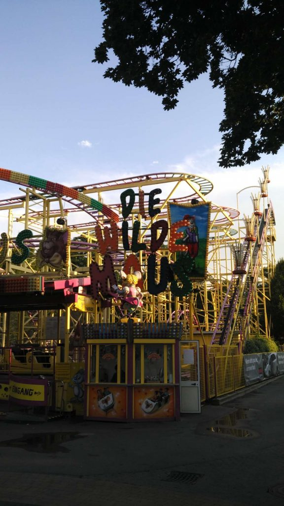 Adelaideans will remember the 'Mad Mouse', a legendary fairground ride from the annual Royal Adelaide Show – shut down due to multiple catastrophic safety failures. Let's hope Die Wilde Maus (The Wild Mouse) is safer…